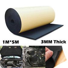 100CM*500CM Car Sound Deadener Acoustic Heat Noise Insulation Foam Mat Black 3MM