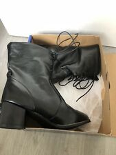 Faux Leather Black Boots 6.5/7