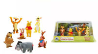 Authentic Disney Store Winnie The Pooh 7 Piece Figurine Playset Cake Toppers