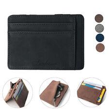 Luxury Men's Faux Leather Thin Wallet Credit Card ID Holder Purse Mini Wallet