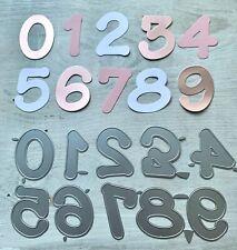 Stanzschablone Cutting dies Zahlen XXL süß & niedlich, 5 cm, 10-teilig