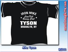 Nuova T-SHIRT MAGLIA MAGLIETTA Camiseta IRON MIKE TYSON Brooklyn NY Boxe Club