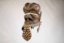 "Metal Plated Kuba Bwoom Mask 11"" - Drc - African Art"