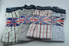 4 Pack ENGLISH LAUNDRY Check Boxer Shorts Underwear XL 31-34 100% Cotton NWT ee