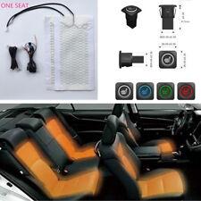 Car Single Seat Carbon Fiber Heated Pad+4 Color 3 Files Switch Control Temp 12V