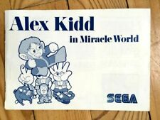 NOTICE SEULE ALEX KIDD IN MIRACLE WORLD MASTER SYSTEM PAL EURO BOOKLET ANLEITUNG