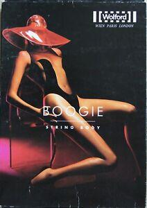 Wolford Red BOOGIE Sleeveless Sheer String Body Velvet Mix Style 70972 Large