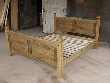 Pinie Massivo Bett 180x200 Doppelbett Holz Massivholzbett corona Farbton Brasil