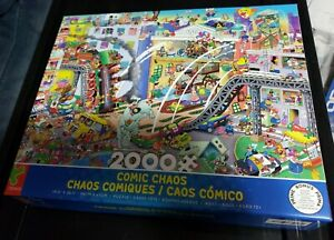 New Ceaco Comic Chaos 2000 Piece Jigsaw Puzzle 2020 RJ Crisp Series 4