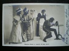 POSTCARD - RP ACTORS APPEARING IN PLAY - VALENTINE BROWN SEARCHING FOR GREY HAIR