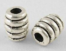 20 x 7mm Tibetan Silver Spiral Barrel Beads - Spacer Beads Charms TS102