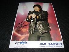 "Jimi Jamison (+ 2014) signed autógrafo 20x25 cm foto ""Survivor"" inperson rar"