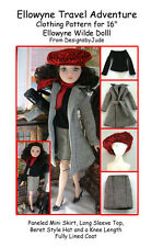 Travel Adventure Doll Clothes Sewing Pattern Ellowyne Wilde, Tonner