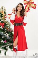 CHRISTMAS COSTUME MISS SANTA CLAUS OUTFIT ELF Woman LADIES Fancy Dress size 8 10