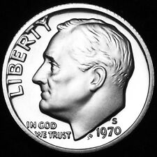 1970 S Roosevelt Mint Proof Dime ~ U.S. Coin from Original Proof Set