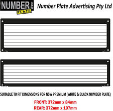 Number Plate Cover NSW Premium Screw On - pinstripe lines