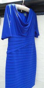 ❤️Adrianna Papell Blue Wiggle Dress UK 14❤️