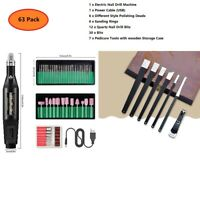 Professional Electric Manicure Pedicure Machine Nail Art File Drill Bit Tool Set