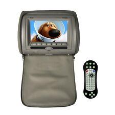 "New Pyle 7"" LCD Headrest Monitor DVD CD PLayer USB/SD Remote FM IR Transmitter"