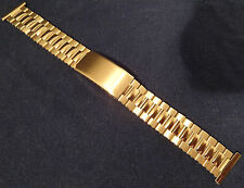 New ROWI Made in Germany 16mm Gold Tone Bracelet Watch Band with Buckle $39.95