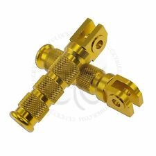 Gold Round Front Set Foot Pegs Yamaha YZF Rider Main Steps R1 R6 Footrest Bars