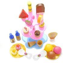 Sweet Treats Ice Cream and Desserts Tower Pretend Play Set Child Development Toy