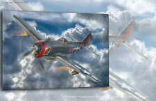 "Aviation Art Canvas print P-47M-1RE ""Thunderbolt"" Capt.W. Lanowski"