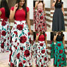 UK Womens Floral Maxi Dress Ladies Evening Party Causal Summer Boho Long Dresses