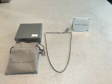 David Yurman Sterling Silver Small Box Chain Necklace - 20in