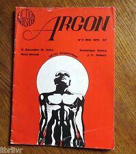 Science fiction Revue ARGON N° 2 mai 1975 Jeury Durand Douay Hubert