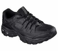 Skechers Wide Width Black shoe Men Memory Foam Sport Train Comfort Sneaker 50127