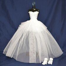 Eledoll Wedding Dress Bridal Dress & Shoes Set for Barbie Doll Bride Fashion