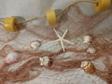 New Listing12' X 8' Fishing Net Sea Shells Starfish Home Decor Floats Beach Theme
