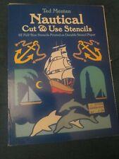 Nautical Cut & Use Stencils Ted Menten 1986   92 stencils Complete Dover