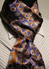 Colorful Drums patterned scarf made from 100% Italian silk by TribalTies.