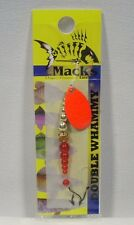 Macks #8 Double Whammy Red Gold Fishing Lure Spinners
