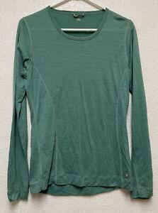 Smartwool Women's Merino Base Layer  Long Sleeve T-Shirt Sz L green