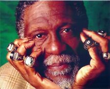 BILL RUSSELL 8X10 PHOTO BOSTON CELTICS BASKETBALL NBA WITH CHAMPION RINGS