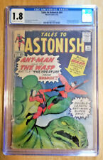 TALES TO ASTONISH #44 *CGC 1.8 OW TO WHITE PAGES* ORIGIN & 1ST APP THE WASP