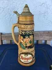 Hudepohl Brewing Co. Beer Diamond Jubilee 14K Advertising Stein Piggy Bank Sign