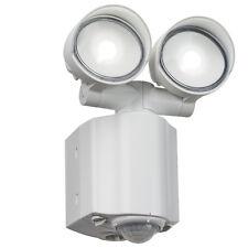 Knightsbridge 230V IP44 2x8W LED Twin Spot White Security Light PIR x1