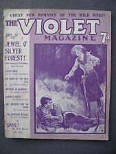 UK Pulp Magazine - THE VIOLET MAGAZINE  No. 54  Sep 19, 1924