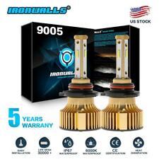 9005 HB3 H10 9140 9145 LED Headlight Kit 2500W 6000K 375000LM Car Fog Bulbs HID