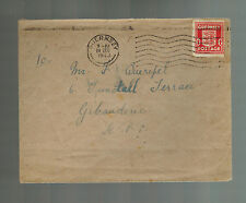 1943 Guernsey England Channel Islands Occupation Cover to SPP Christmas Eve Canc