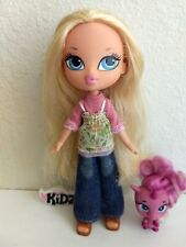 Girlz Girl Bratz Kidz Cloe Doll Blonde Hair Blue Eyes Original Clothes Shoes Pet