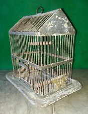 Vintage Early 1900s Metal Canary Finch or small Bird Cage