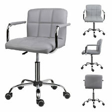 Swivel Lift Armchair Swivel PU Leather Office Chair Dressing Studio Salon Barber