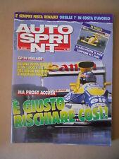 Autosprint n°45 1989 con Maxi Poster di JEAN ALESI F.3000  [G593A]
