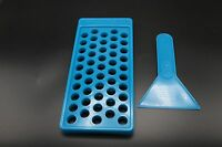 DIY Lip Balm Filling Tray Teal blue, Filling Tray Bottle and Tins
