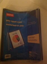 BRAND NEW!! Staples Swing Spine Report Covers, Navy Blue, 10/Pack